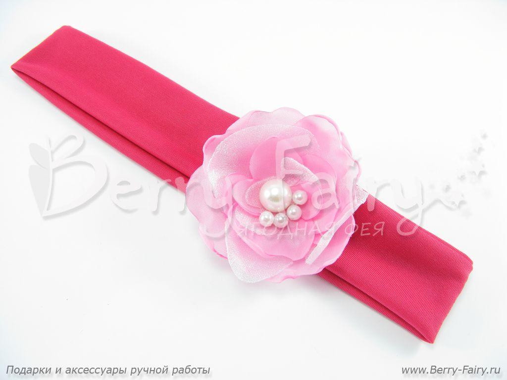 Berry-Fairy.ru - Повязка на голову для девочки Нежный цветок